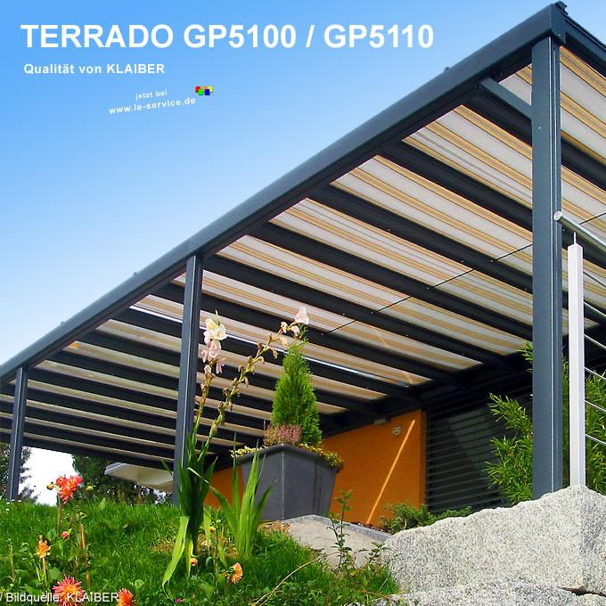 KLAIBER Terrassendach Terrado GP5100 Terrassenüberdachung