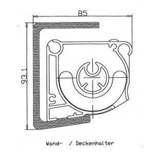 auswählen:  WKS Kombi-Konsolen für Wand und Decke (Wand- oder Deckenmontage mit zwei Stück variablen Wand-Decken-Halterungen)