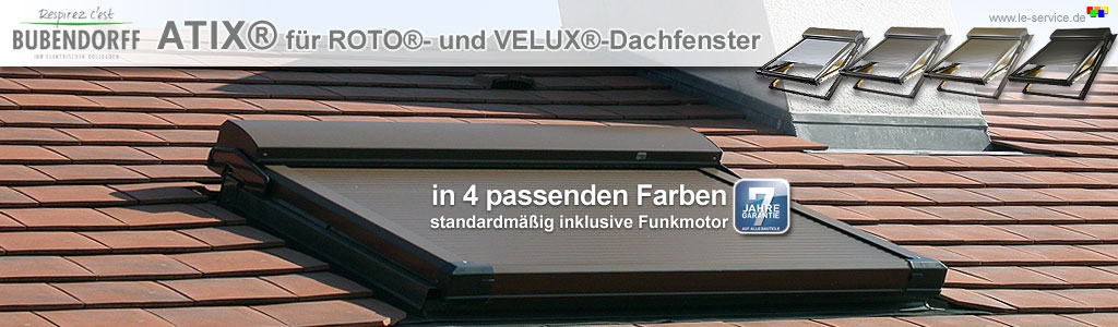 dachfensterrollladen atix fuer velux fenster. Black Bedroom Furniture Sets. Home Design Ideas