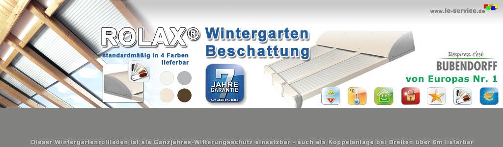 Bubendorff Wintergarten-Rollladen ROLAX 7200 x 5000