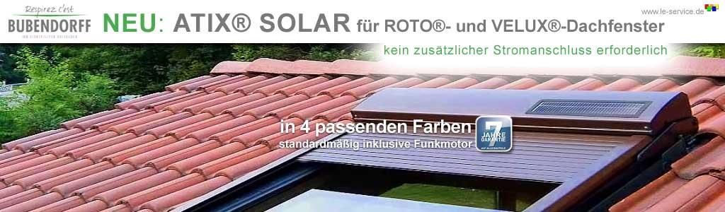 Dachfensterrollladen ATIX® SOLAR für VELUX® Dachfenster inkl. Solarpaket