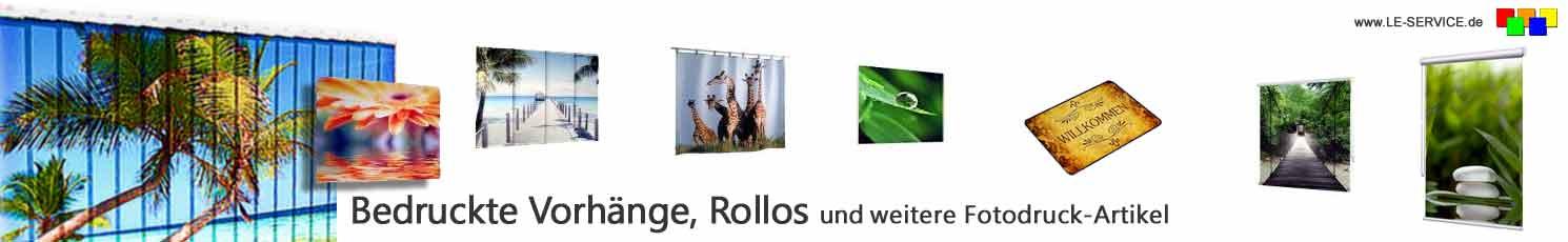 Foto-Vorhänge und bedruckte Schlaufenvorhänge