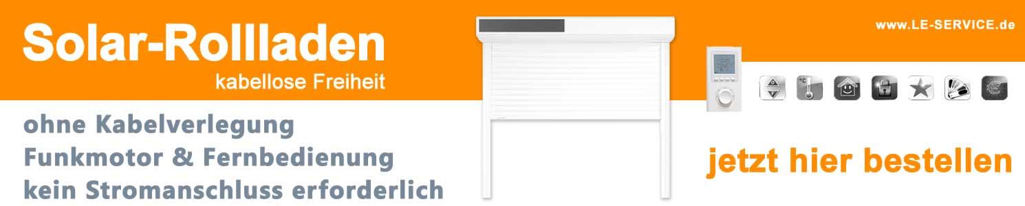Solarrollladen | Rollladen mit Solar | Rolladen mit Solarantrieb Akku & Funk