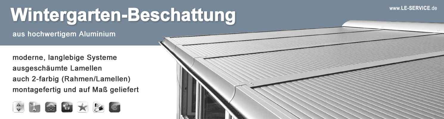 Wintergartenbeschattung textil oder Aluminium