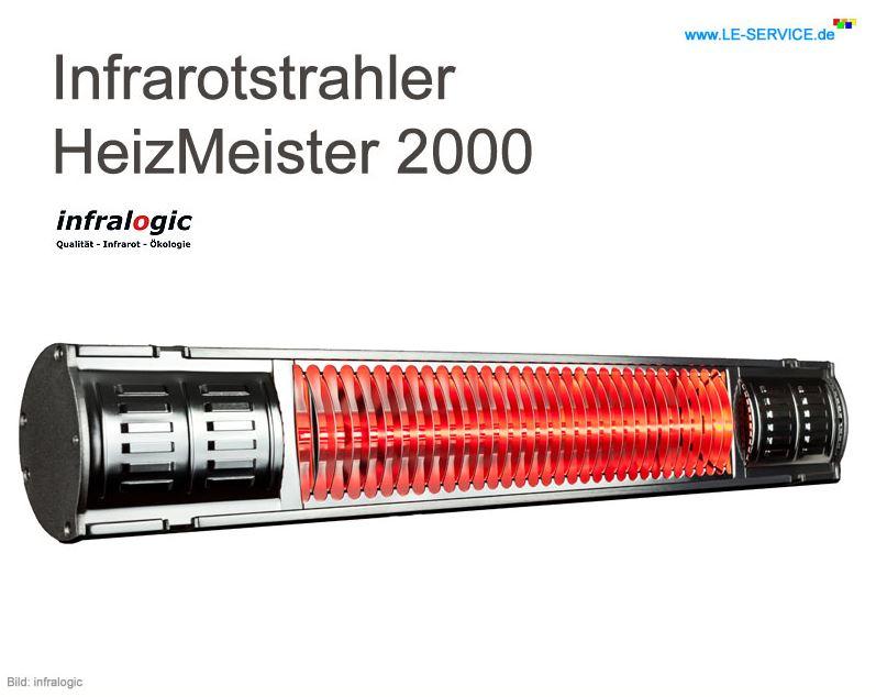 Infrarotheizstrahler Heizmeister 2000
