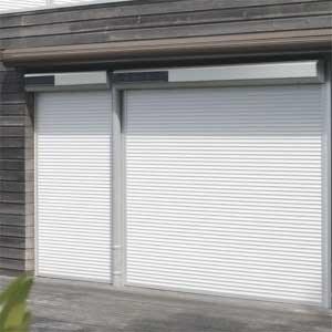 Vorbaurollladen mit Solar, Farbe Weiss, Kasten 2x20 Grad