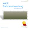 WKS Balkonumrandung auf Maß für Ihren Balkon - umlaufender Saum mit Ösen WKS Balkonumrandung - umlaufen...
